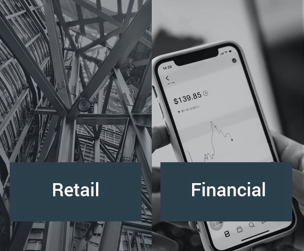 Custom IoT application development for the retail and financial sectors.