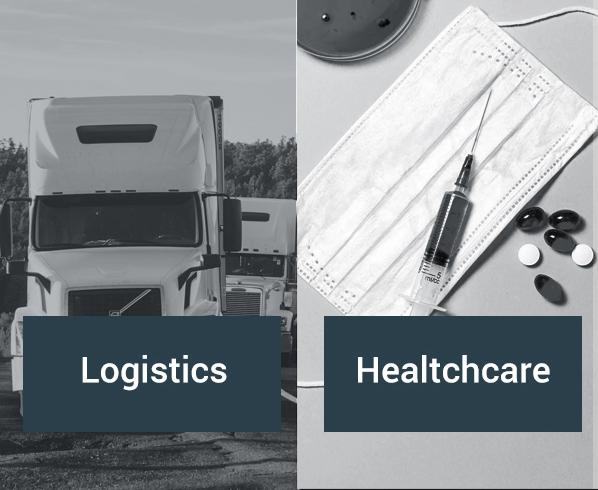 Custom IoT application development for the logistics and healhcare sectors.
